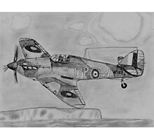 Hurricane above the cliffs of Dover Photographic Print