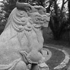 foo dog in garden 2 by ksteiling