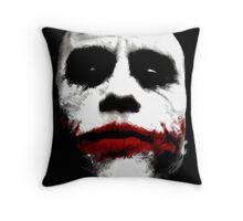 Heath Ledger's Joker Throw Pillow