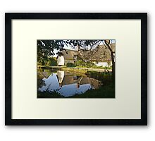 Cottages At Wennington  Framed Print
