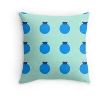Blueberry Galore Throw Pillow