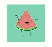 Walter Melon - Cute Salad Art Print