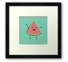 Walter Melon - Cute Salad Framed Print