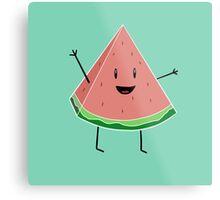 Walter Melon - Cute Salad Metal Print