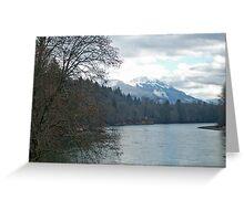 """Sauk Mountain and Skagit River"" Greeting Card"