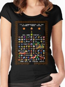 It's Dangerous To Go Alone, Take All of This! Women's Fitted Scoop T-Shirt
