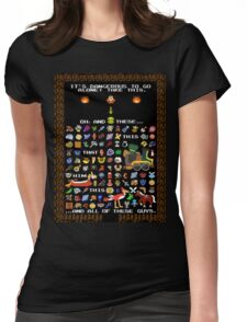 It's Dangerous To Go Alone, Take All of This! Womens Fitted T-Shirt