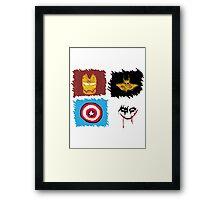 Marvel vs. DC, bro! Framed Print