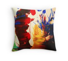 Colours, red, blue, and yellow  Throw Pillow