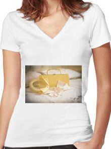 The Date... Women's Fitted V-Neck T-Shirt