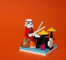 Stormtrooper plays drum by Kirk Arts