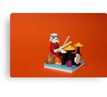 Stormtrooper plays drum Canvas Print