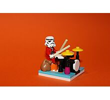 Stormtrooper plays drum Photographic Print