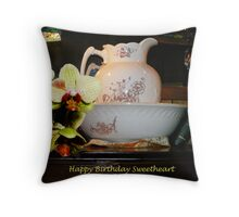 Birthday Card for someone special Throw Pillow