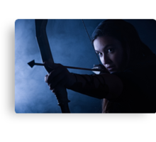 Archery woman Canvas Print