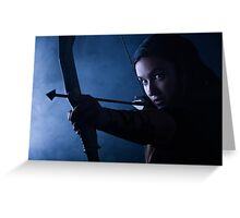 Archery woman Greeting Card