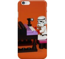 Stormtrooper plays piano iPhone Case/Skin