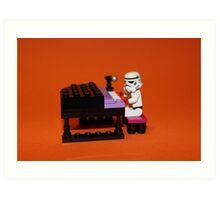 Stormtrooper plays piano Art Print