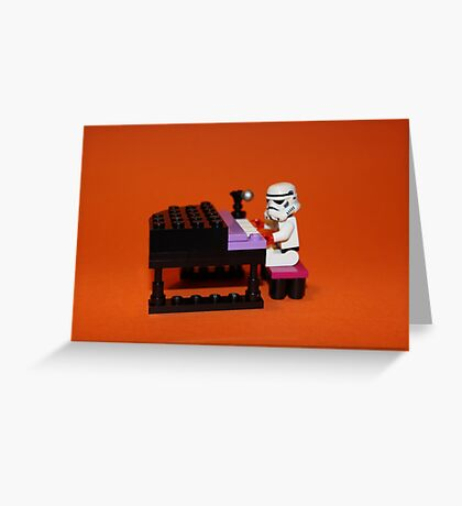 Stormtrooper plays piano Greeting Card