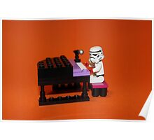 Stormtrooper plays piano Poster