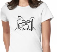 Drums percussion Womens Fitted T-Shirt