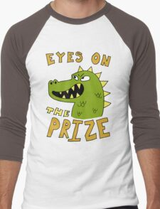Eyes on the prize dinosaur Men's Baseball ¾ T-Shirt
