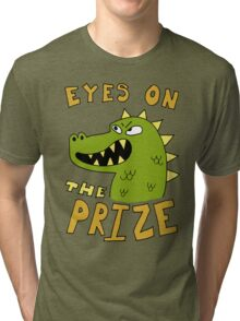 Eyes on the prize dinosaur Tri-blend T-Shirt