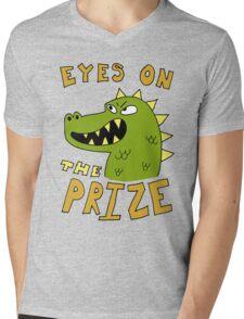 Eyes on the prize dinosaur Mens V-Neck T-Shirt