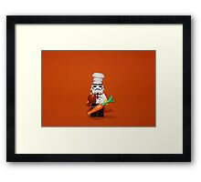 Stormtrooper Cook'ing Framed Print