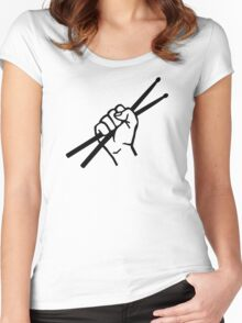 Drummer drumsticks Women's Fitted Scoop T-Shirt