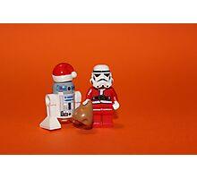 Stormtrooper Santa Photographic Print