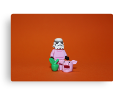 Piggy Stormtrooper Canvas Print