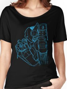 Robot N Rose Sketch Women's Relaxed Fit T-Shirt