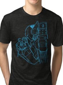 Robot N Rose Sketch Tri-blend T-Shirt