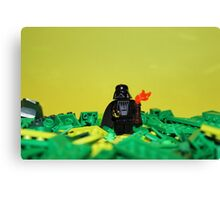 Darth Vader Green Canvas Print
