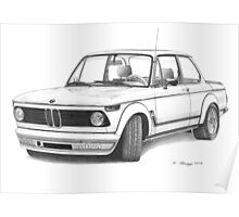 BMW 2002 Turbo (1972) Poster