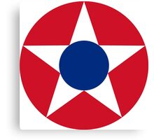 Roundel of the Costa Rican Military Air Force, 1947-1949 Canvas Print