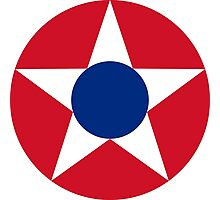 Roundel of the Costa Rican Military Air Force, 1947-1949 Photographic Print