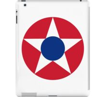 Roundel of the Costa Rican Military Air Force, 1947-1949 iPad Case/Skin