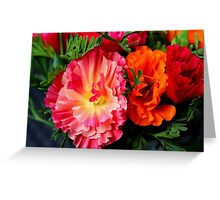 Colours & Flowers Speak all Languages Greeting Card
