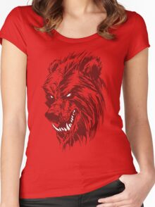 The Benday Bear Experiment Women's Fitted Scoop T-Shirt