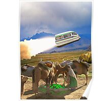 Balochistan Hover Van blasts off past the Vilo Snail Robocamel Caravan Poster