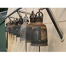 Row of monk Ritual bells Photographic Print