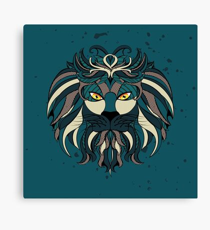 Stylized Lion Head Canvas Print