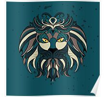 Stylized Lion Head Poster