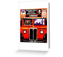 London Bus 100 Greeting Card