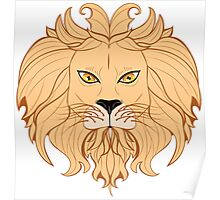 Stylized Lion Head 2 Poster