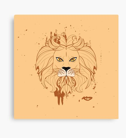 Stylized Lion Head 3 Canvas Print