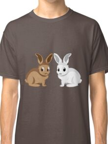 White and brown rabbits Classic T-Shirt