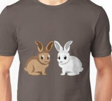 White and brown rabbits Unisex T-Shirt